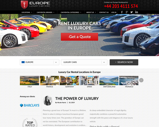 Luxury Car Rental Europe Logo